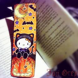 Halloween Hello Kitty Bookmark by TheKingOfMoths