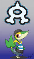 Team Aqua Snivy by SamTheSnivy