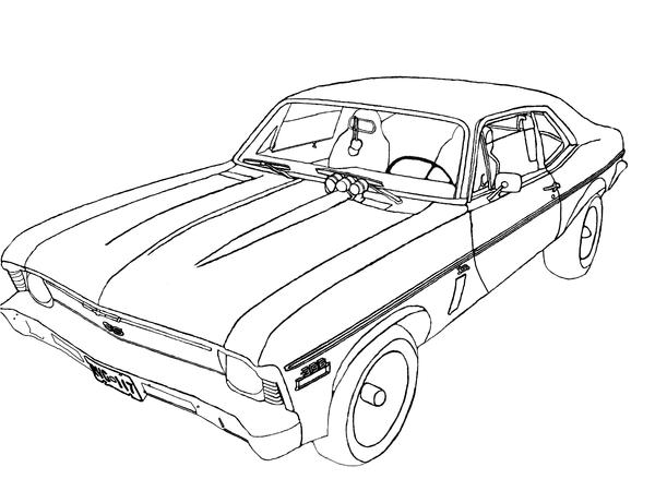 Chevy nova coloring pages sketch coloring page for Chevy nova coloring pages