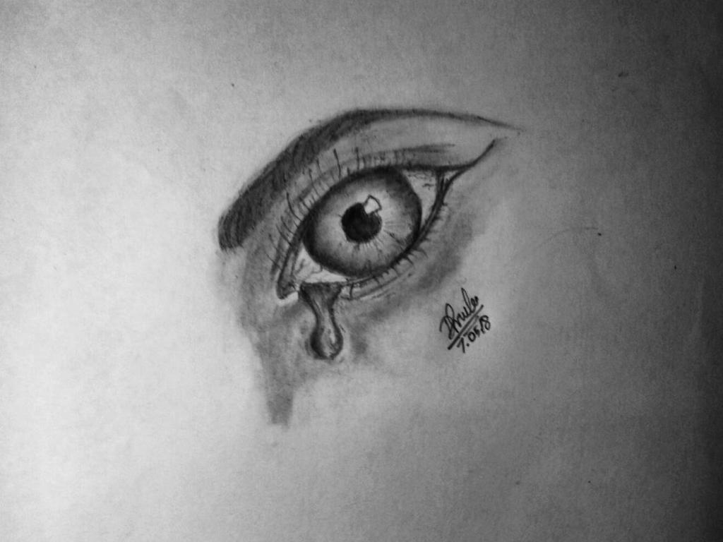 a crying eye by dhrubo2002