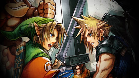 Link vs. Cloud Wallpaper