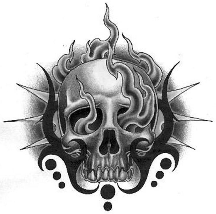 Skulls Tattoo Design Wallpaper: Tribal Skull By Boosted On DeviantArt