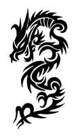 Tribal dragon tattoo by Boosted