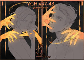 YCH auction #47-48 Black and gold (CLOSED)