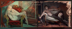 YCH auction #49-50 lying in a chair (OPEN 2/2)