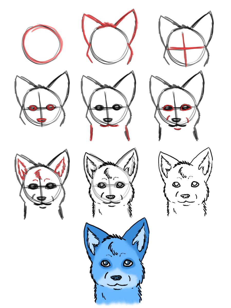 Howtodraw Wolves Part 3 By Dogwolf129