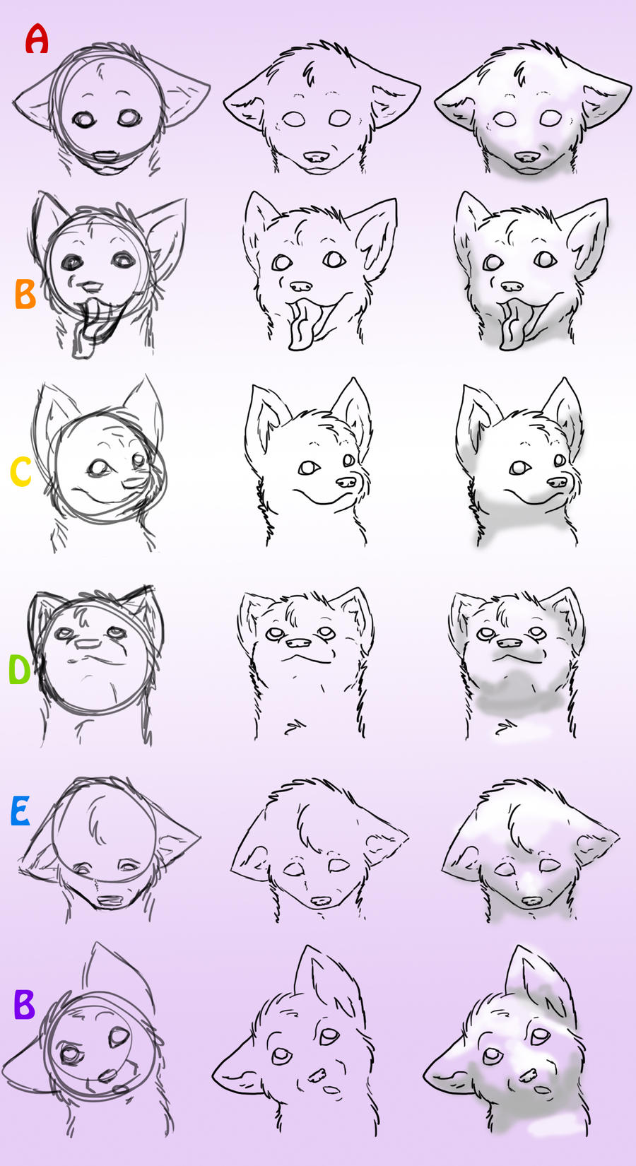 Howtodraw Wolves Part 4 By Dogwolf129