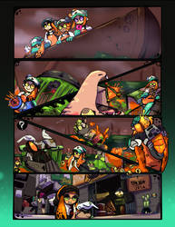 A slice of a shift [SALMON RUN ZINE]