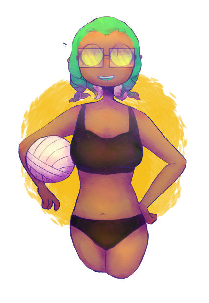 Please don't challange her with Tara at volleyball