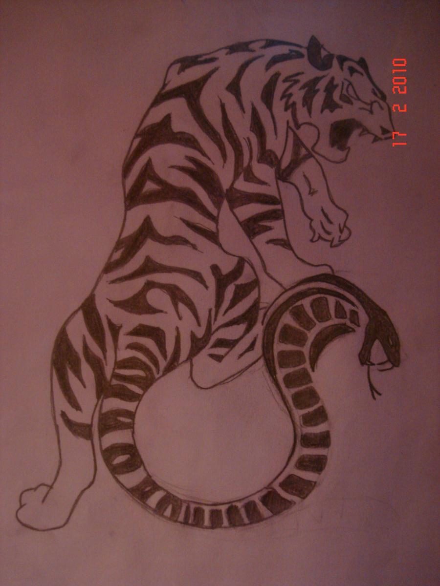 Cobra Tattoo Tiger cobra tattoo design by