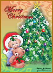 Christmas Greeting  Card -1 by ssimon14