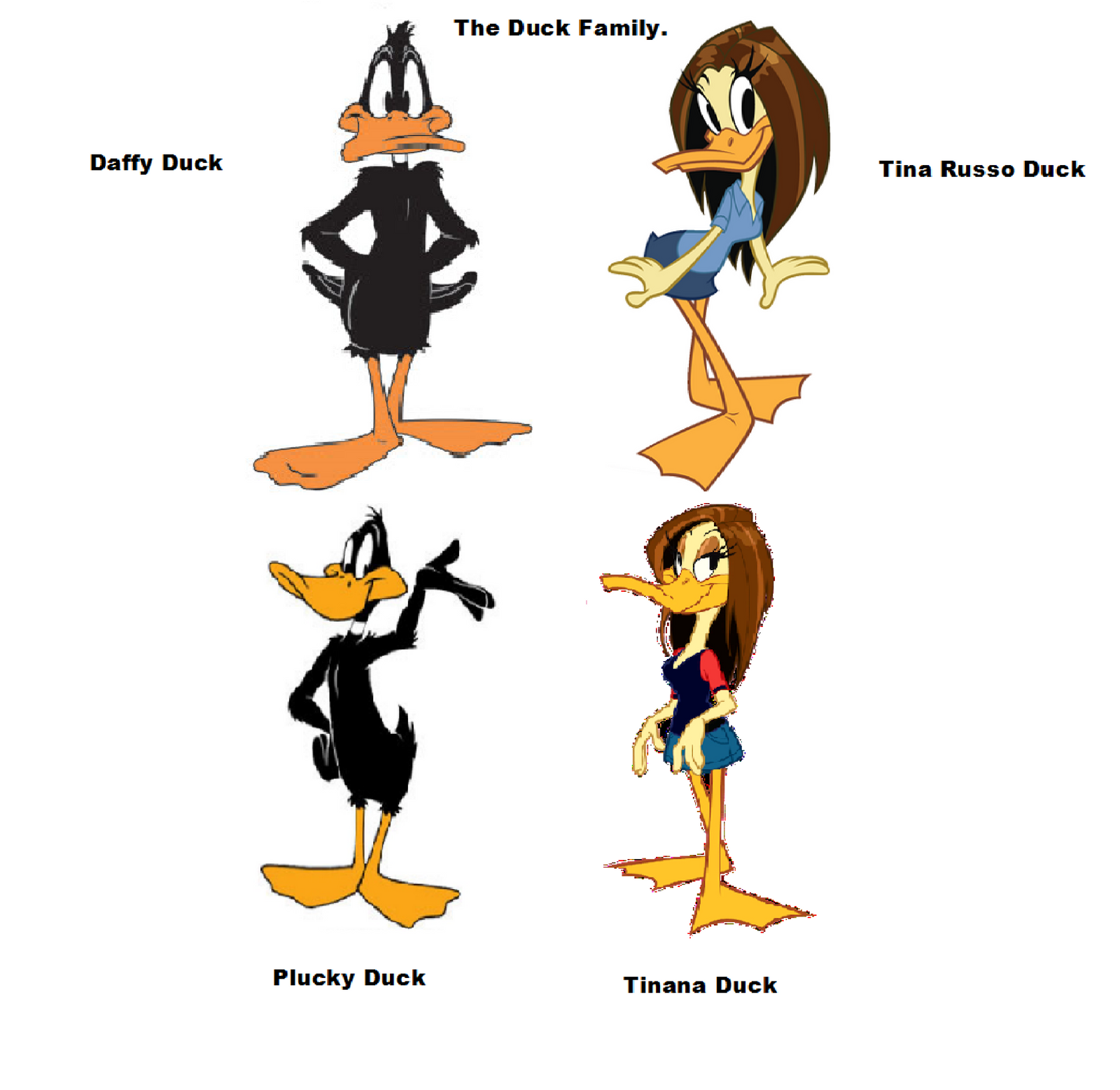 The Duck Family. by Lo... Daffy Duck And Tina Duck