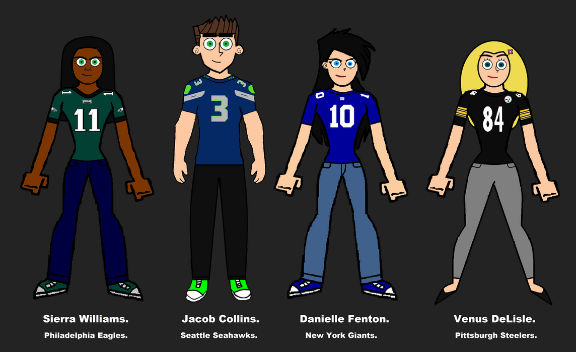 Danielle and her best friends- The Quartet, NFL. by LooneyAces