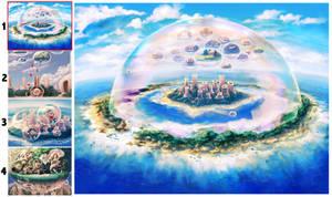 Dream Bubble Island by benryyou