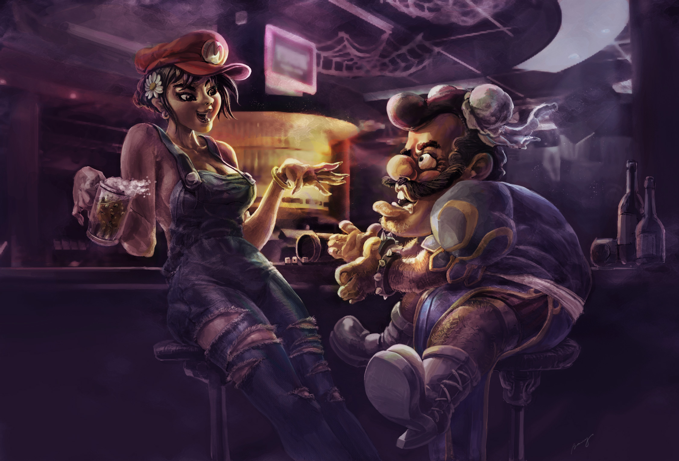 Mario and Chunli by benryyou