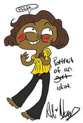Portrait of an idiot
