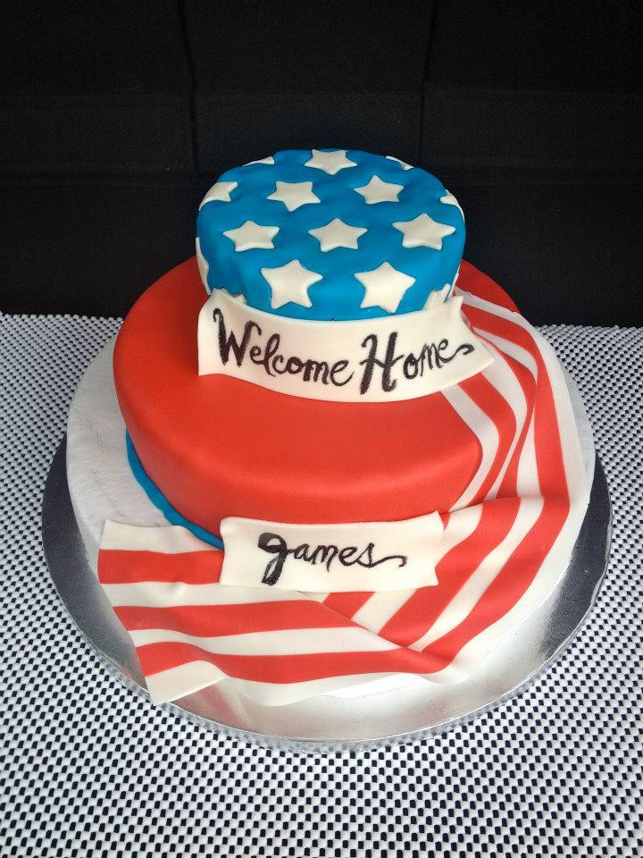 Cake Art Usa : Usa Flag Cake by pinkshoegirl on DeviantArt