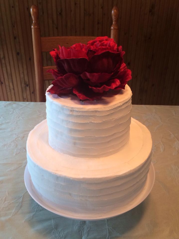 Peony Cake by pinkshoegirl