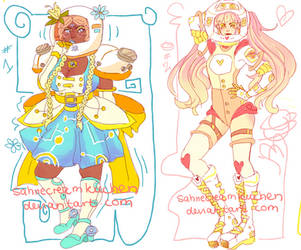 LEFT OVER  space princesses adoptables by SahneCreamKuchen