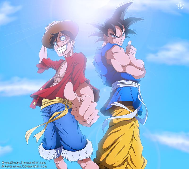 Goku And Luffy By Nagadih On DeviantArt