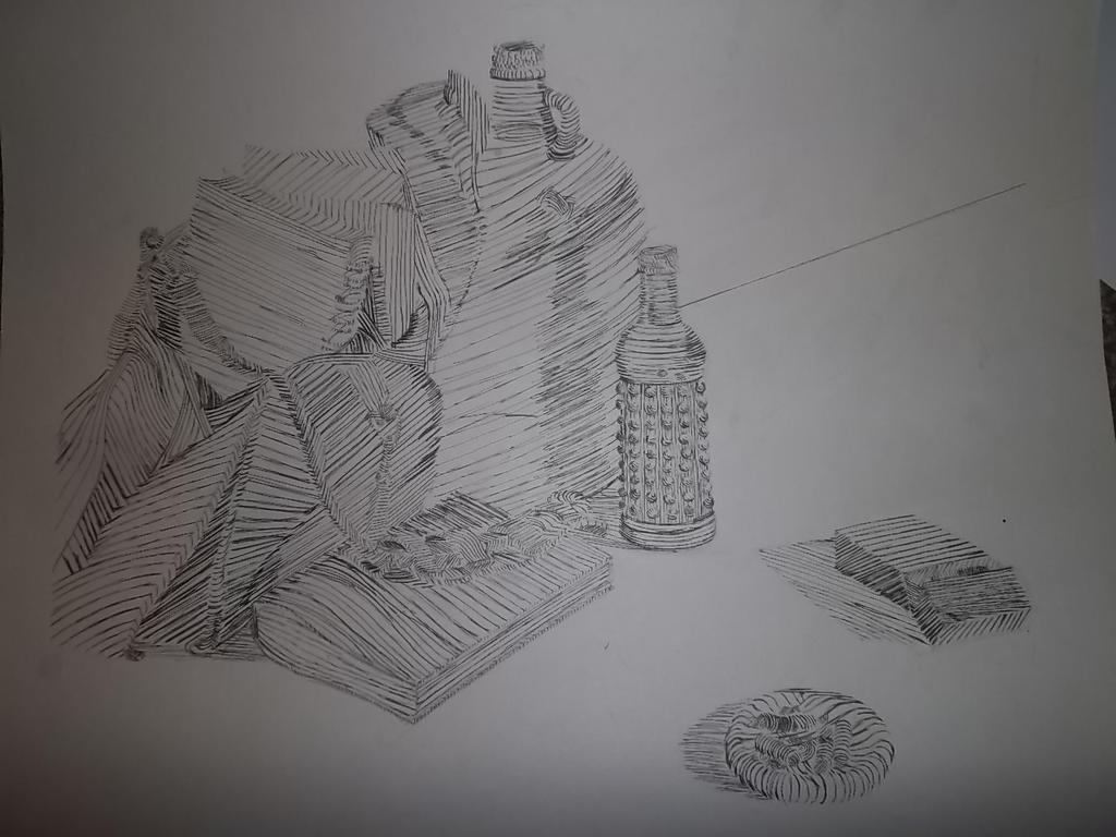 Contour Line Drawing Of Still Life : Contour line drawing still life by thethirdt on deviantart