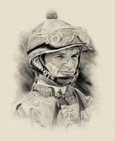 Horse Racing Jockey Pat Day by Paluso4art