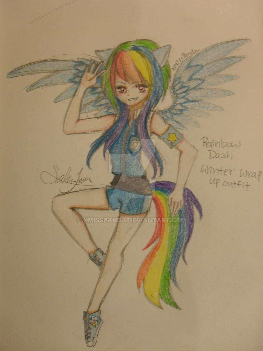 Winter Wrap up Sky leader Rainbow Dash - MLP by xMissPanda