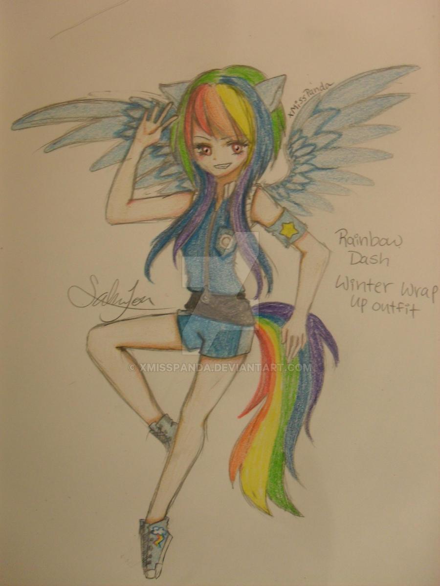 Winter Wrap up Sky leader Rainbow Dash - MLP by xMissPanda