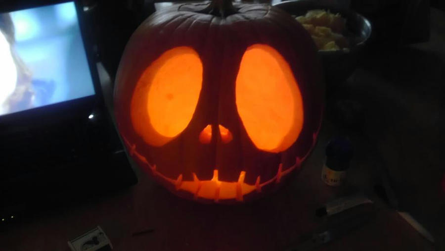 Jack Skellington Pumpkin Carving By Kangatruemadness On Deviantart