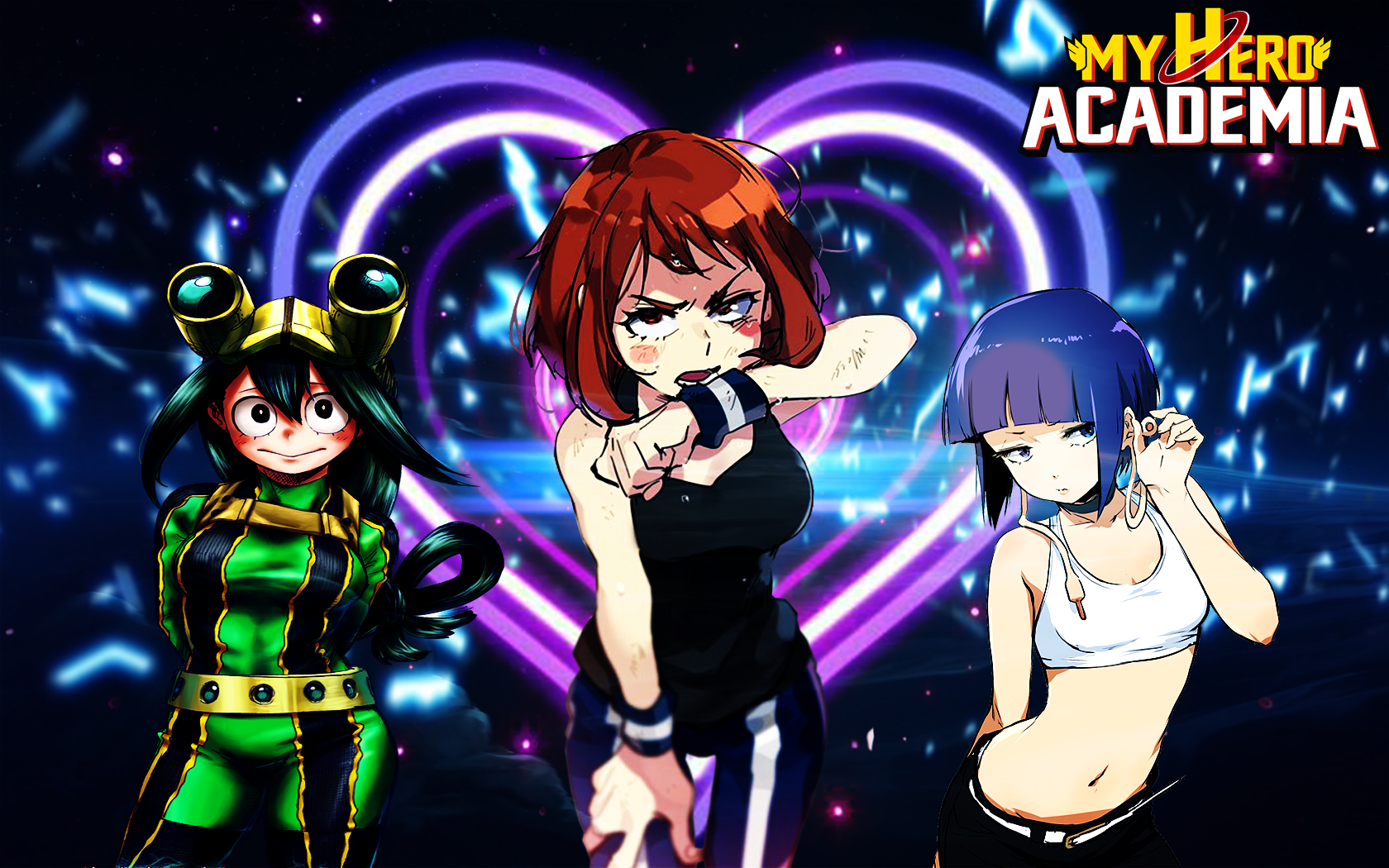 My Hero Acadamia Girls Hd Wallpaper By Jdoggokussj2 On Deviantart