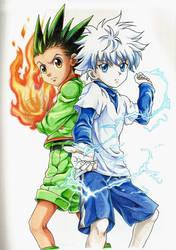 Gon y Killua by Akirachaan
