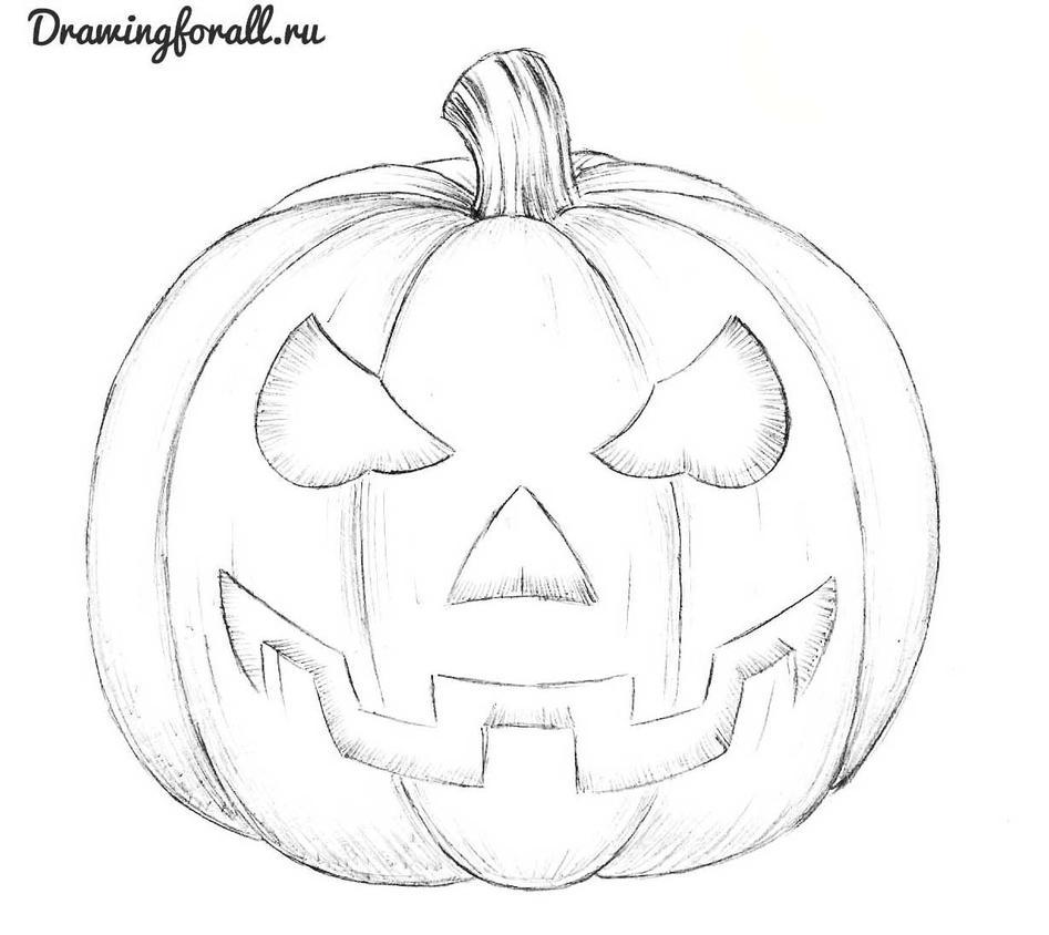 Как нарисовать поэтапно карандашом хэллоуин
