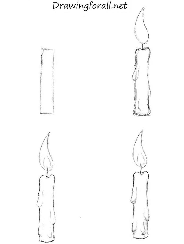 It is an image of Simplicity Drawing Of A Candle