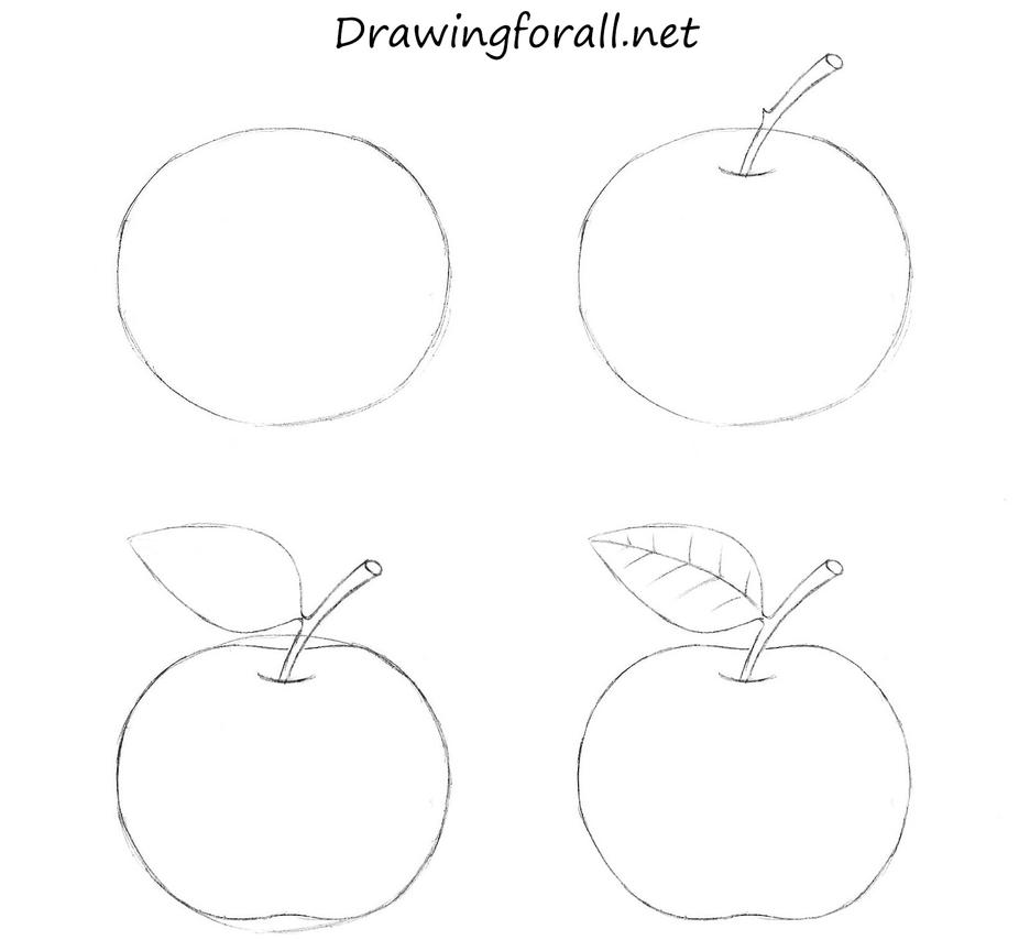 How to draw an apple for beginners by stevelegrand on for How to draw doodle art for beginners