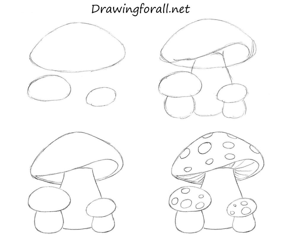 How to draw mushrooms for kids by stevelegrand on deviantart for How to draw a mushroom