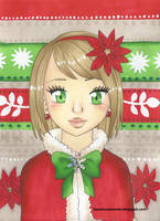 Christmas portrait 2 by Lazure-chan