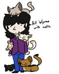Bill Wyman with cats