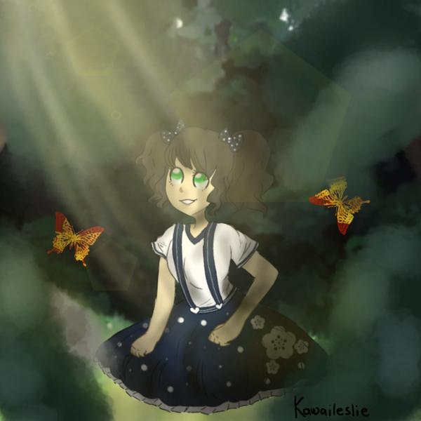 Sophia en el bosque (? :v by kawaileslie