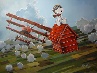 Snoopy versus the Red Baron! by hill9868