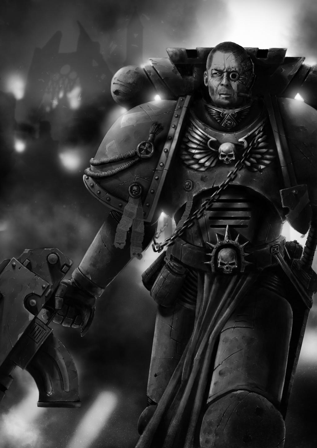 Space Marine Veteran by Filip-Hammer
