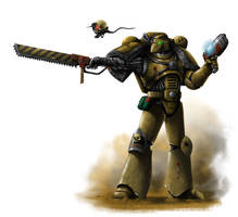 Sons of Medusa Space Marine (Badab War) by Filip-Hammer