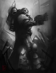 Iron Hands Astartes by Filip-Hammer