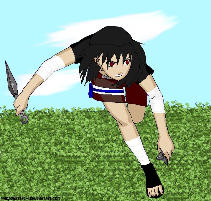 Anime Characters Running : Akane running naruto oc by marionette on deviantart