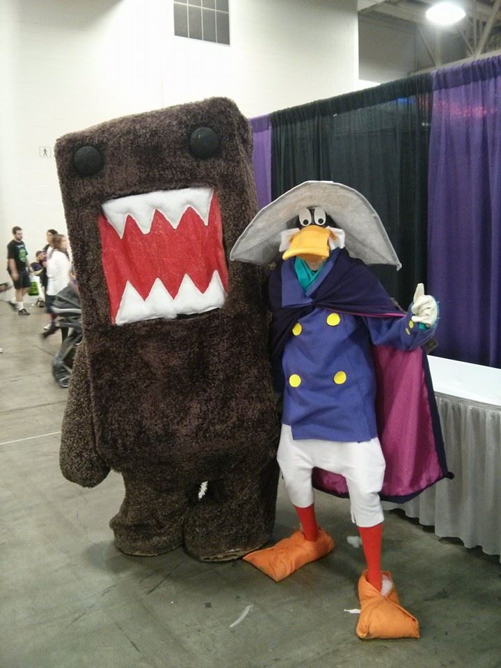 Domo and Darkwing Duck. by Demonyoshi