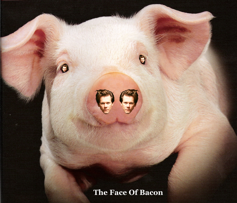 The Face Of Bacon by AndPlusAmpersandAlso