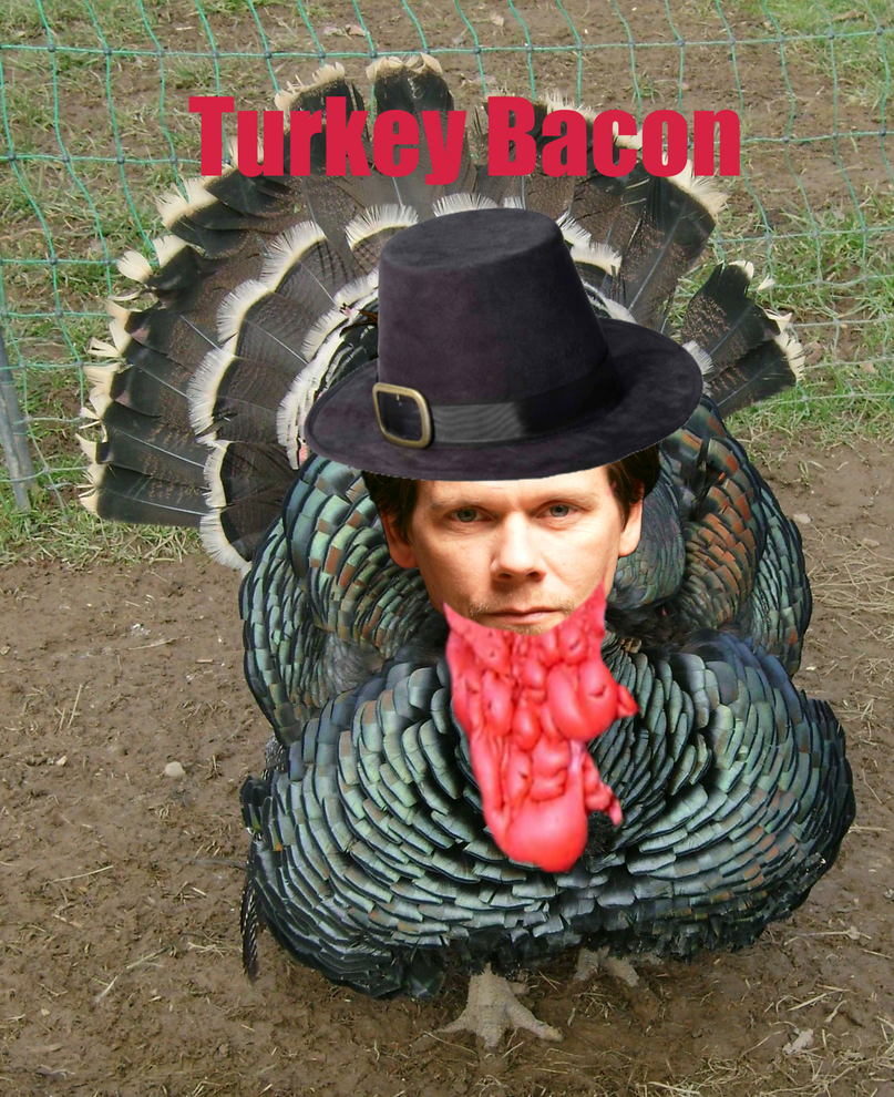 Turkey Bacon 1- Kevin Bacon Photoshop by AndPlusAmpersandAlso