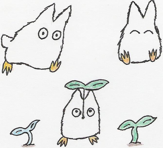 White Totoro Drawing White Totoro Drawing
