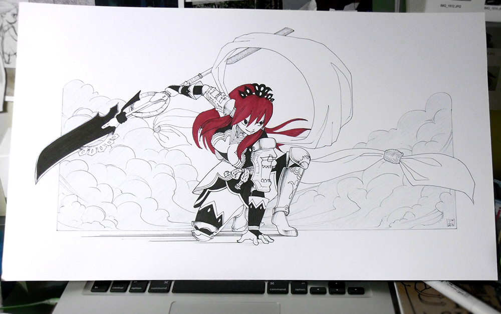Erza Scarlet Coloring Pages