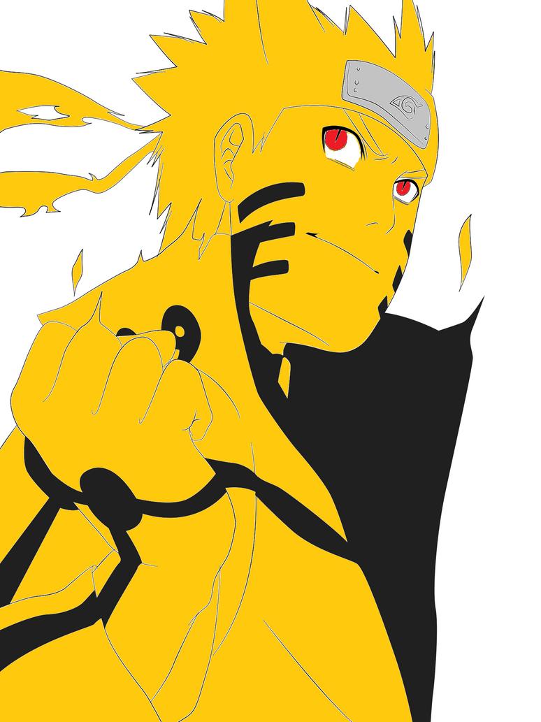 Naruto Uzumaki (Bijuu Mode) by ArtistVOID13 on deviantART