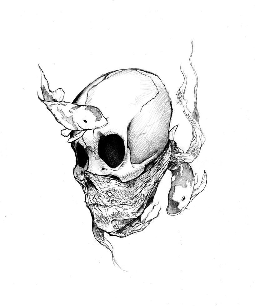 Sunken Skull Koi by Futurum-Undam